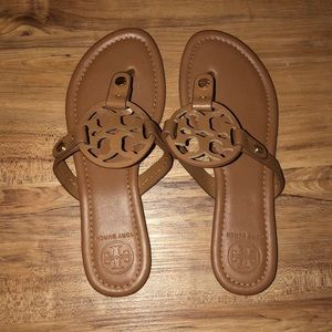 Shoes - Knock off Tory Burch Miller Brown Leather Sandal